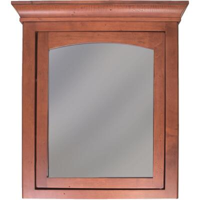 Sunny Wood Expressions Cinnamon 27 In. W x 32 In. H x 6-1/2 In. D Single Mirror Surface Mount Medicine Cabinet
