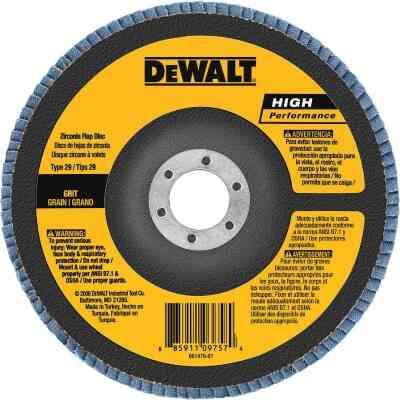 DeWalt 6 In. x 5/8 In.-11 60-Grit Type 29 High Performance Zirconia Angle Grinder Flap Disc