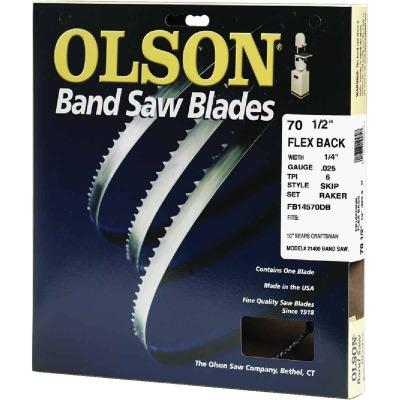 Olson 70-1/2 In. x 1/4 In. 6 TPI Skip Flex Back Band Saw Blade