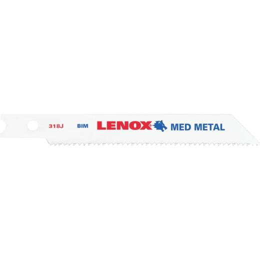 Lenox U-Shank 3 In. x 18 TPI Bi-Metal Jig Saw Blade, Metal (2-Pack)