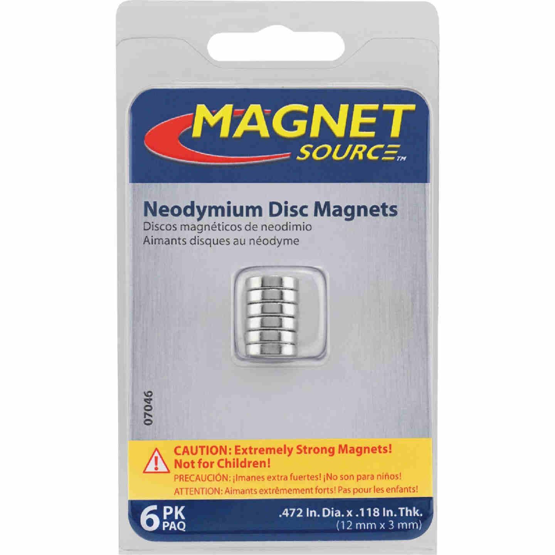 Master Magnetics .472 in. Neodymium Disc Magnet (6-Pack) Image 2
