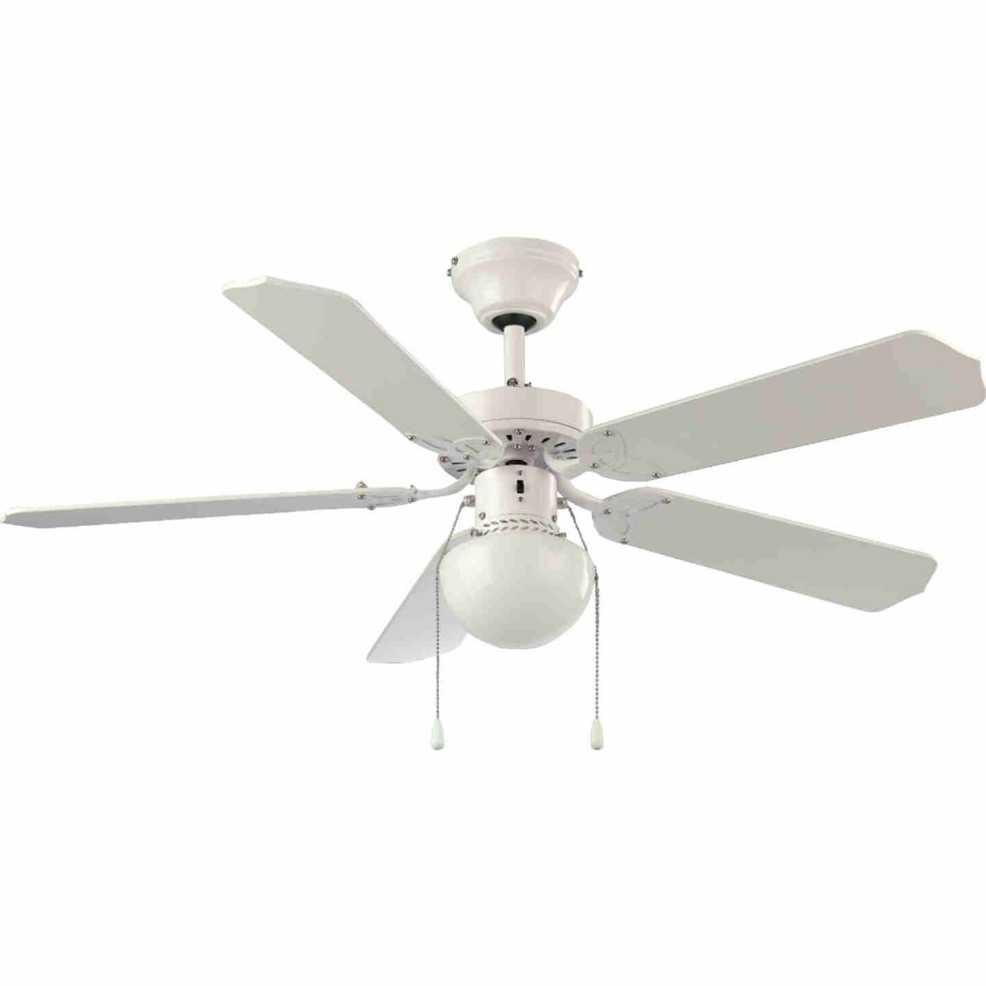 Home Impressions Micro Breeze 42 In. White Ceiling Fan with Light Kit Image 1