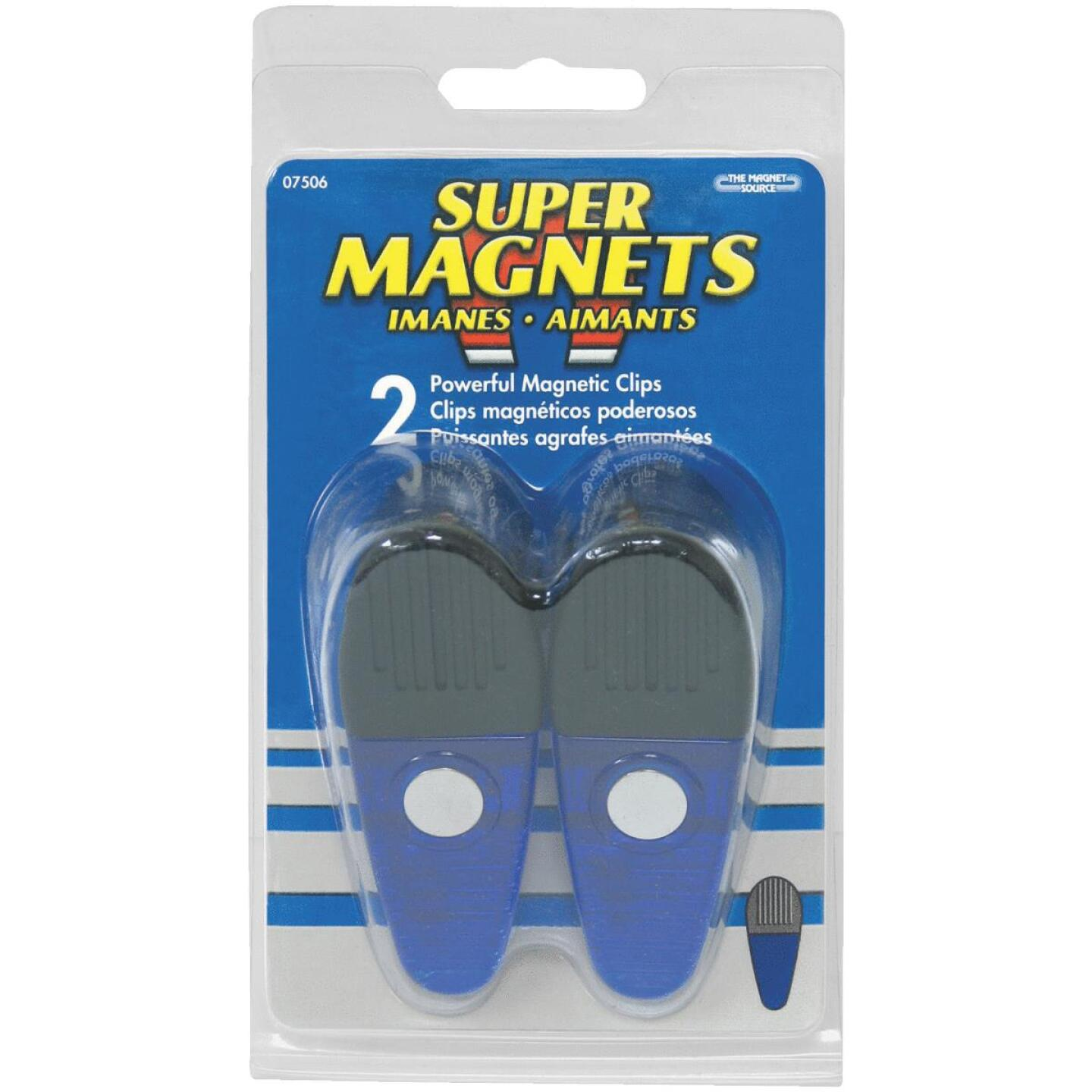 Master Magnetics 3-1/2 In. Blue Magnetic Clip (2 Count) Image 2