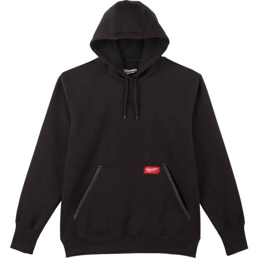 Milwaukee Large Black Heavy-Duty Pullover Hooded Sweatshirt
