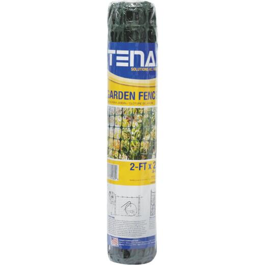 Tenax 2 Ft. H. x 25 Ft. L. High-Density Polyethylene Garden Fence, Green