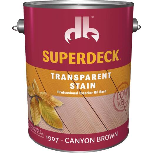 Duckback SUPERDECK Low VOC Transparent Stain, Canyon Brown, 1 Gal.
