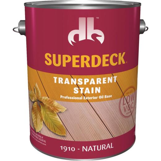 Duckback SUPERDECK Low VOC Transparent Stain, Natural, 1 Gal.