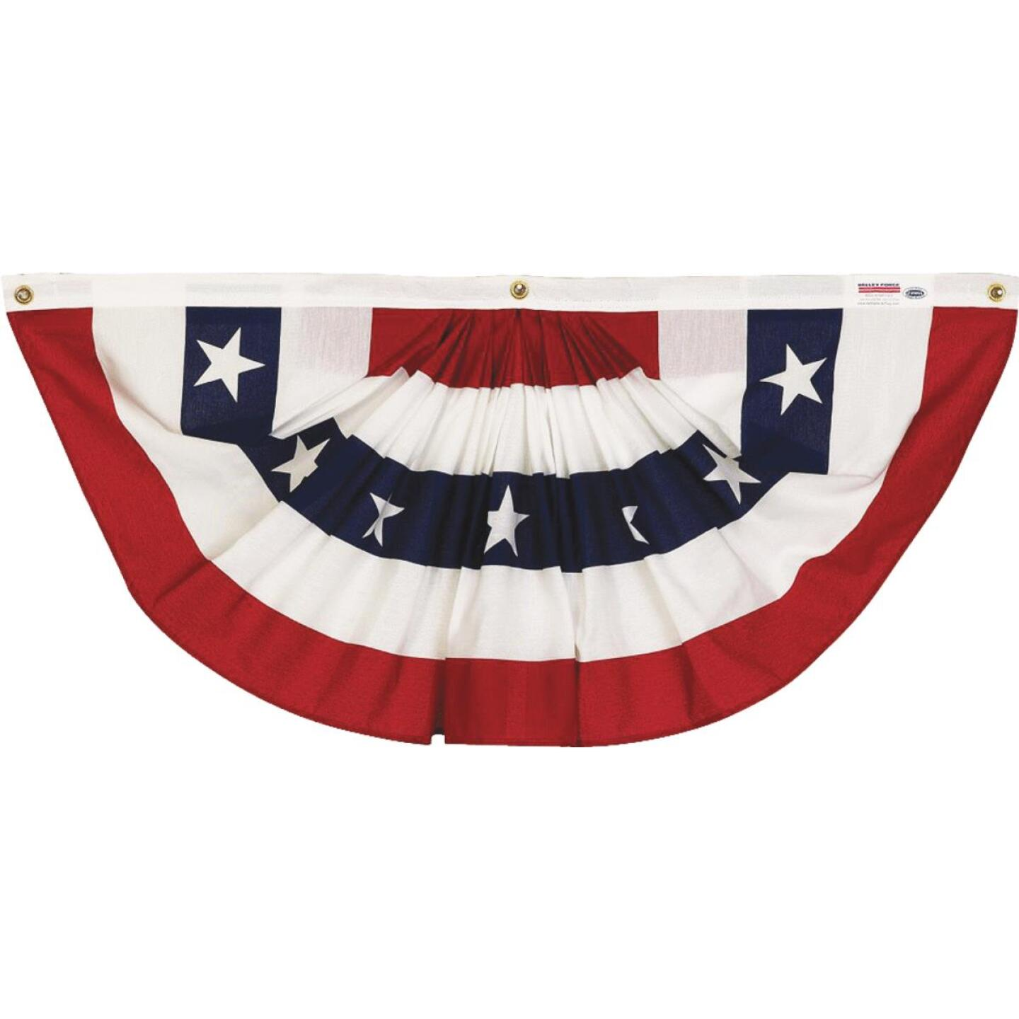 Valley Forge 3 Ft. W. x 6 Ft. L. Polycotton Fan Flag Bunting Image 1